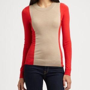 Theory Porsha Preen Wool Colorblock Sweater M